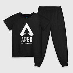 Пижама хлопковая детская Apex Legends цвета черный — фото 1