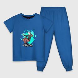 Пижама хлопковая детская Sally Face цвета синий — фото 1