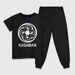 Пижама хлопковая детская Kasabian: Symbol цвета черный — фото 1