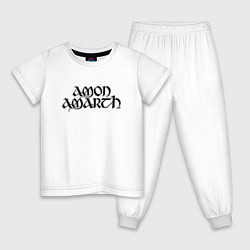 Пижама хлопковая детская Amon Amarth цвета белый — фото 1