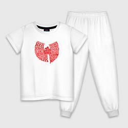 Пижама хлопковая детская WU TANG CLAN цвета белый — фото 1