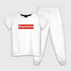 Пижама хлопковая детская SAYONARA BOY цвета белый — фото 1