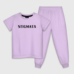 Пижама хлопковая детская Stigmata цвета лаванда — фото 1