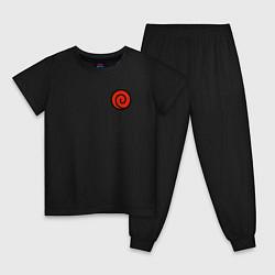 Пижама хлопковая детская NARUTO UZUMAKI CLAN цвета черный — фото 1