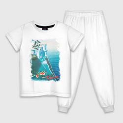 Пижама хлопковая детская Крым цвета белый — фото 1