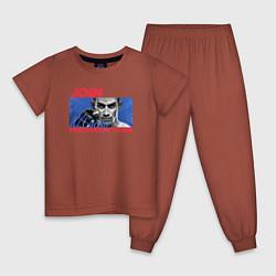 Пижама хлопковая детская Ferguson team цвета кирпичный — фото 1