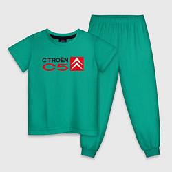 Пижама хлопковая детская CITROEN C5 цвета зеленый — фото 1