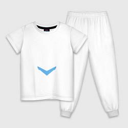 Пижама хлопковая детская HALO цвета белый — фото 1