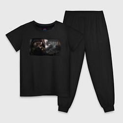 Пижама хлопковая детская Stalker 2 цвета черный — фото 1