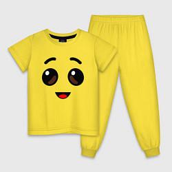 Пижама хлопковая детская ЛИЦО БАНАНА ИЗ FORTNITE цвета желтый — фото 1