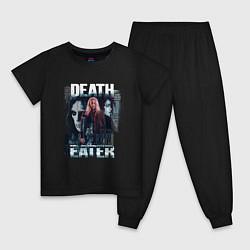 Пижама хлопковая детская Harry Potter: Death Eater цвета черный — фото 1