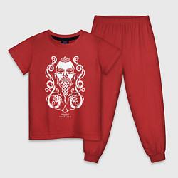 Пижама хлопковая детская Assassin's Creed Valhalla цвета красный — фото 1