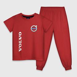 Пижама хлопковая детская VOLVO цвета красный — фото 1