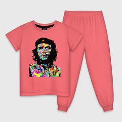 Пижама хлопковая детская Che цвета коралловый — фото 1