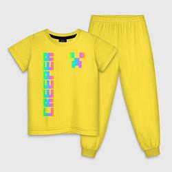 Пижама хлопковая детская MINECRAFT CREEPER цвета желтый — фото 1