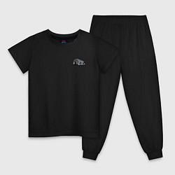 Пижама хлопковая детская HOT ROD, Классика, Авто цвета черный — фото 1
