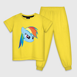 Пижама хлопковая детская Rainbow Dash цвета желтый — фото 1