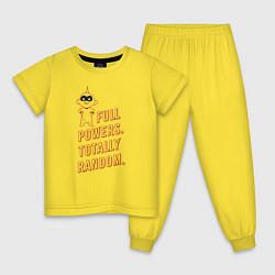 Пижама хлопковая детская Jack-Jack Parr цвета желтый — фото 1