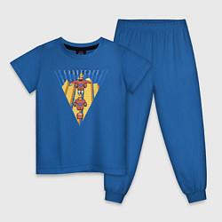 Пижама хлопковая детская Бэймакс Город Героев 6 цвета синий — фото 1