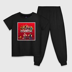 Пижама хлопковая детская Roblox цвета черный — фото 1