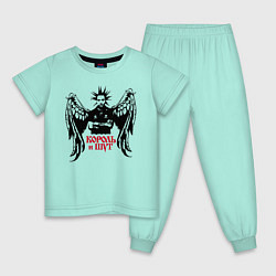Пижама хлопковая детская Король и Шут цвета мятный — фото 1