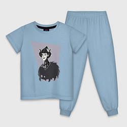 Пижама хлопковая детская Dont Starve цвета мягкое небо — фото 1