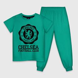 Пижама хлопковая детская Chelsea FC: Emblem цвета зеленый — фото 1