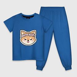 Пижама хлопковая детская Тарумару цвета синий — фото 1