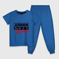 Пижама хлопковая детская Armin Only: Mirage цвета синий — фото 1