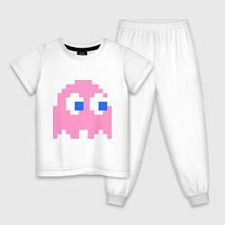 Пижама хлопковая детская Pac-Man: Pinky цвета белый — фото 1