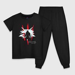 Пижама хлопковая детская OLD WOLF цвета черный — фото 1