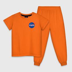 Пижама хлопковая детская NASA цвета оранжевый — фото 1
