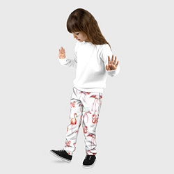 Брюки детские Действия фламинго цвета 3D — фото 2
