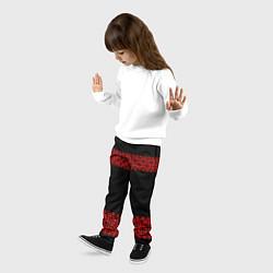 Брюки детские Славянский орнамент (на чёрном) цвета 3D-принт — фото 2