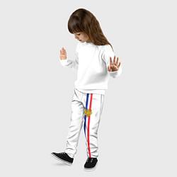 Брюки детские Франция: лента с гербом цвета 3D — фото 2