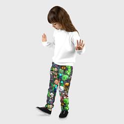 Брюки детские Жители Майнкрафт цвета 3D — фото 2