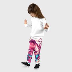 Брюки детские Маска Ханья светлая Самурай цвета 3D — фото 2