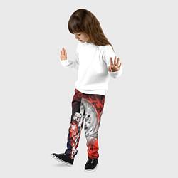 Брюки детские Итачи Учиха Наруто цвета 3D-принт — фото 2