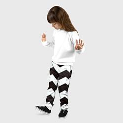 Брюки детские Полосы цвета 3D — фото 2