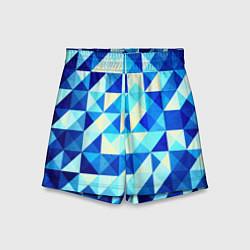Детские шорты Синяя геометрия