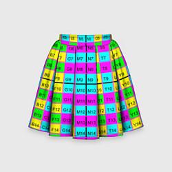 Юбка-солнце для девочки Тестовый яркий цвета 3D — фото 1