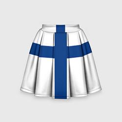 Юбка-солнце для девочки Флаг Финляндии цвета 3D — фото 1