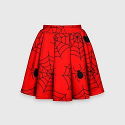 Юбка клеш для девочки с принтом Рассадник пауков, цвет: 3D, артикул: 10135071105607 — фото 1