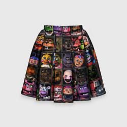Юбка-солнце для девочки Five Nights At Freddy's цвета 3D — фото 1