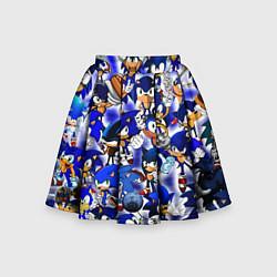 Юбка-солнце для девочки All of Sonic цвета 3D-принт — фото 1