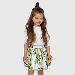 Юбка-солнце для девочки Лимоны цвета 3D — фото 2
