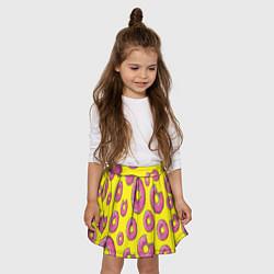 Юбка-солнце для девочки Пончики Гомера цвета 3D — фото 2