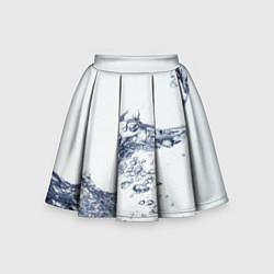 Юбка-солнце для девочки Белая вода цвета 3D — фото 1