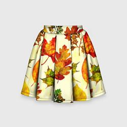 Юбка-солнце для девочки Осень цвета 3D — фото 1