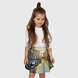 Юбка-солнце для девочки Питер цвета 3D-принт — фото 2